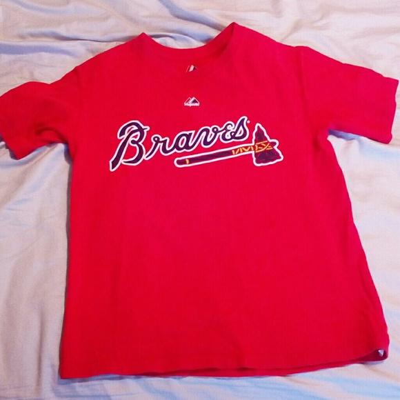 cheaper 4df5e 1e8a8 Boys M Medium Chipper Jones Atlanta Braves T-Shirt
